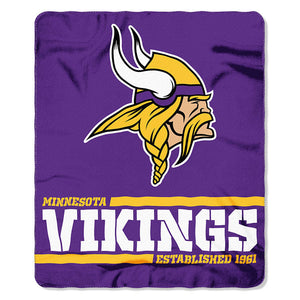 Vikings Splitwide Fleece Throw