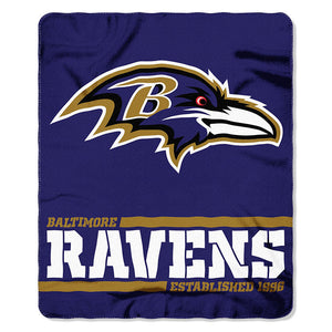 Ravens Splitwide Fleece Throw