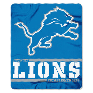 Lions Splitwide Fleece Throw