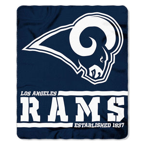 Rams Splitwide Fleece Throw