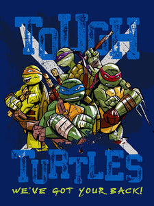 Tmnt - Tough Turtle Blues Rolled Fleece
