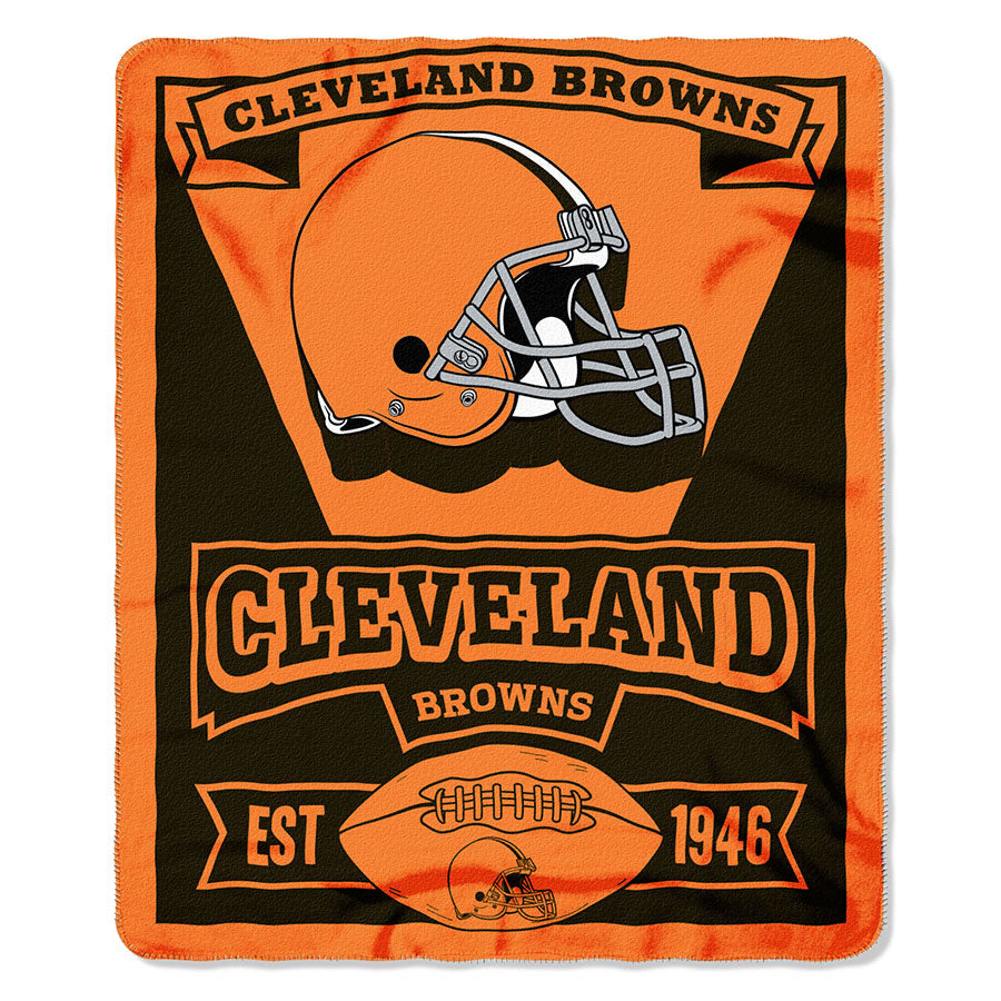 NFL Cleveland Browns Marque Printed Fleece Throw, 50-inch by 60-inch