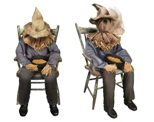 Tekky Toys Animated Sitting Scarecrow Halloween Prop