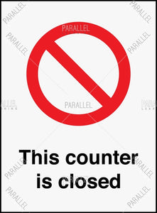 Counter is closed