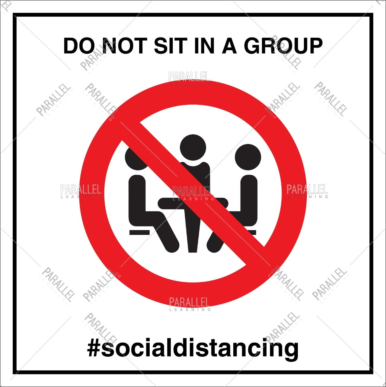 Do not sit in a group_02