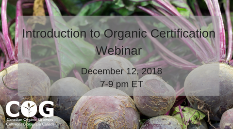 Introduction to Organic Certification Webinar