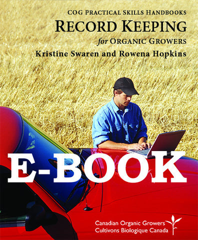Record Keeping for Organic Growers (E-BOOK)