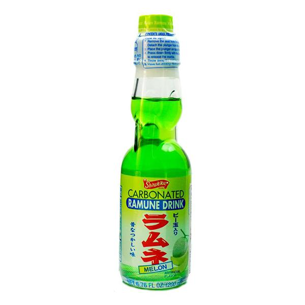 Shirakiku Ramune Drink-Melon 200ml