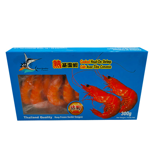 WQ Cooked Head-On Shrimp 300g