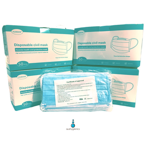 Box of 50 FDA and CE Approved Disposable Face Masks