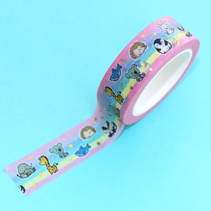 Washi Rainbow Animals