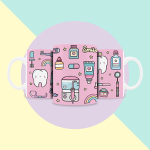 Taza Lite Pink Teeth