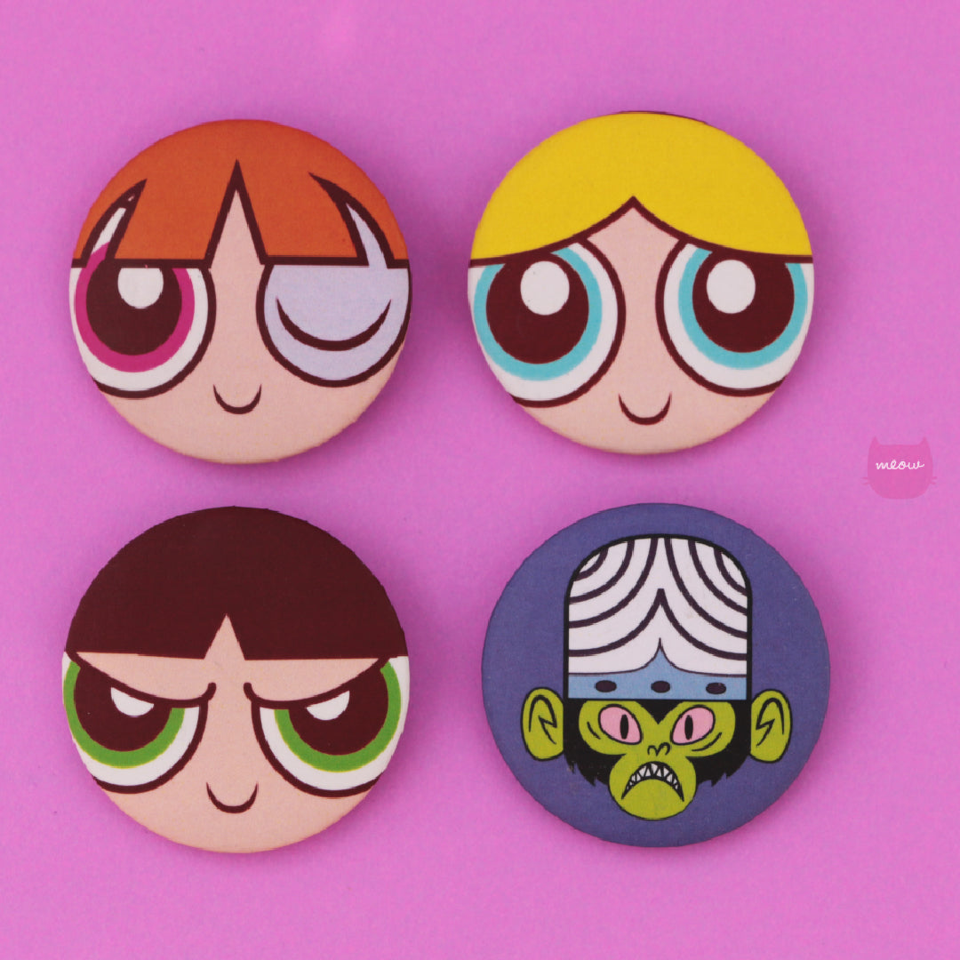 Pack Pins Powerpuff Girls