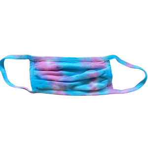 Two-Color Tie-Dye Twist Face Mask