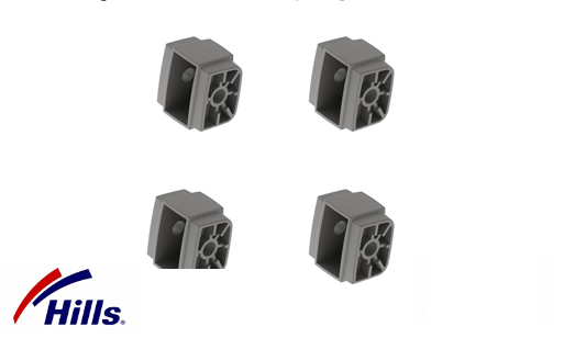Hills Fold Down End Caps 4 Pack