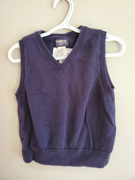 Navy Knitted Vest, 3