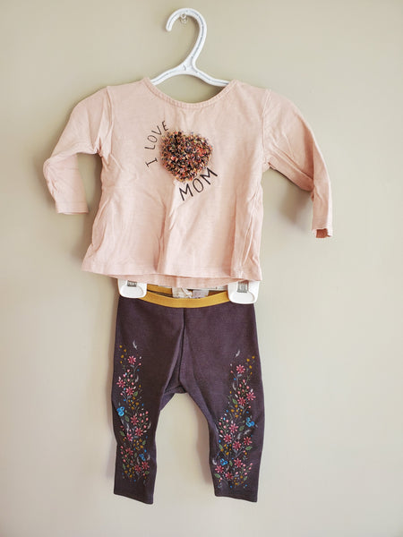 Pink/Grey Outfit, 6/9M