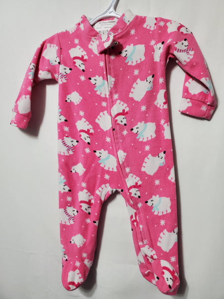 Pink Fleece Jammies, 6M