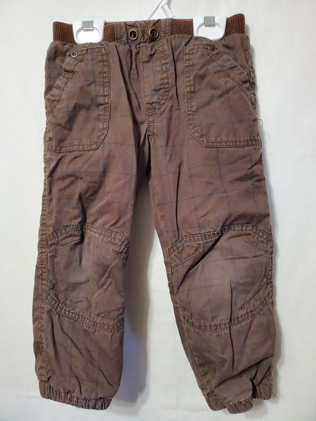 Lined Brown Pants, 3
