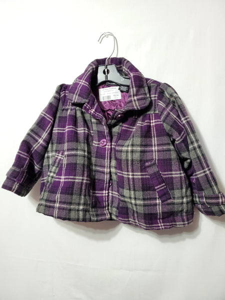 Purple Plaid Coat, 24M