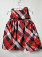 Red Plaid Dress, 12M