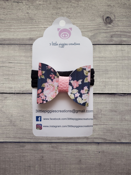 Small Floral Bow Headband