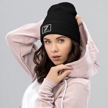 Load image into Gallery viewer, BLACK CUFFED BEANIE - K7