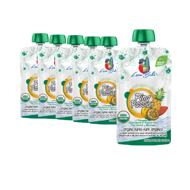 Pina Passion 6-4oz Organic Baby Food Pouches