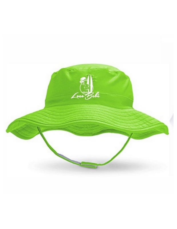 Lime Green Loco Bebé Sun Hat