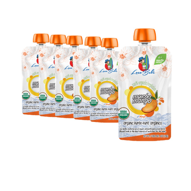 Mucho Mango 10 count - 4 oz Organic Stage 1 Baby Food Pouches