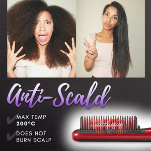 Anti-Scald Hair Straightening Comb