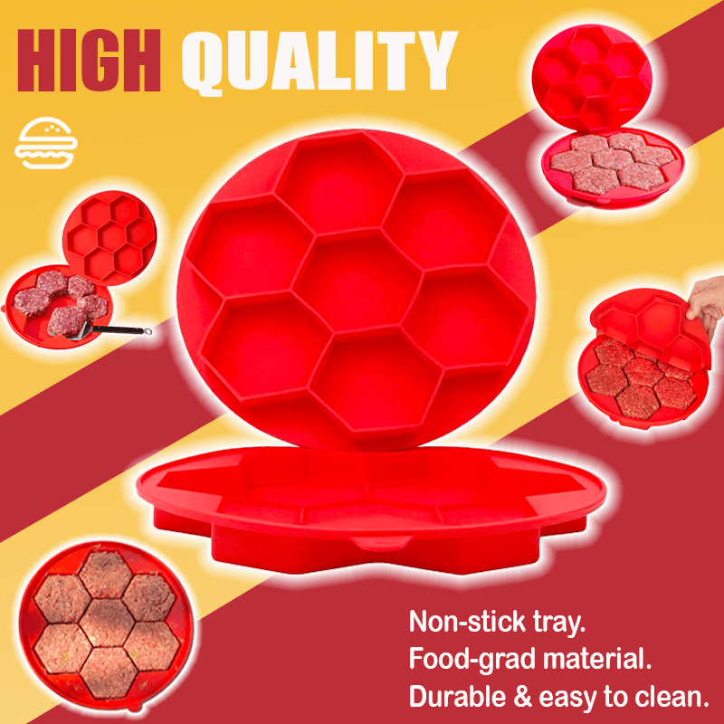 Innovative Hexagonal Burger Press