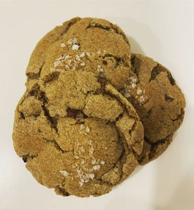 Salted Buckwheat Chocolate Chip Cookie
