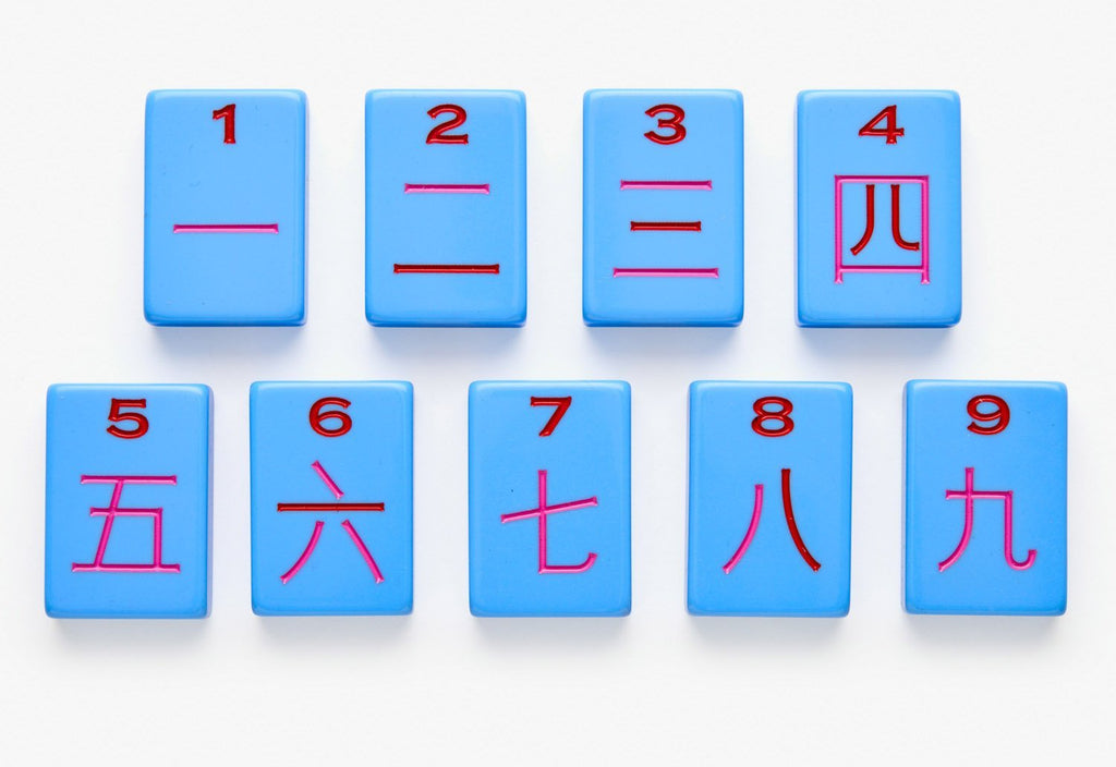 American Mahjong Tile Set featuring Cracks from the Blue Minimal Line