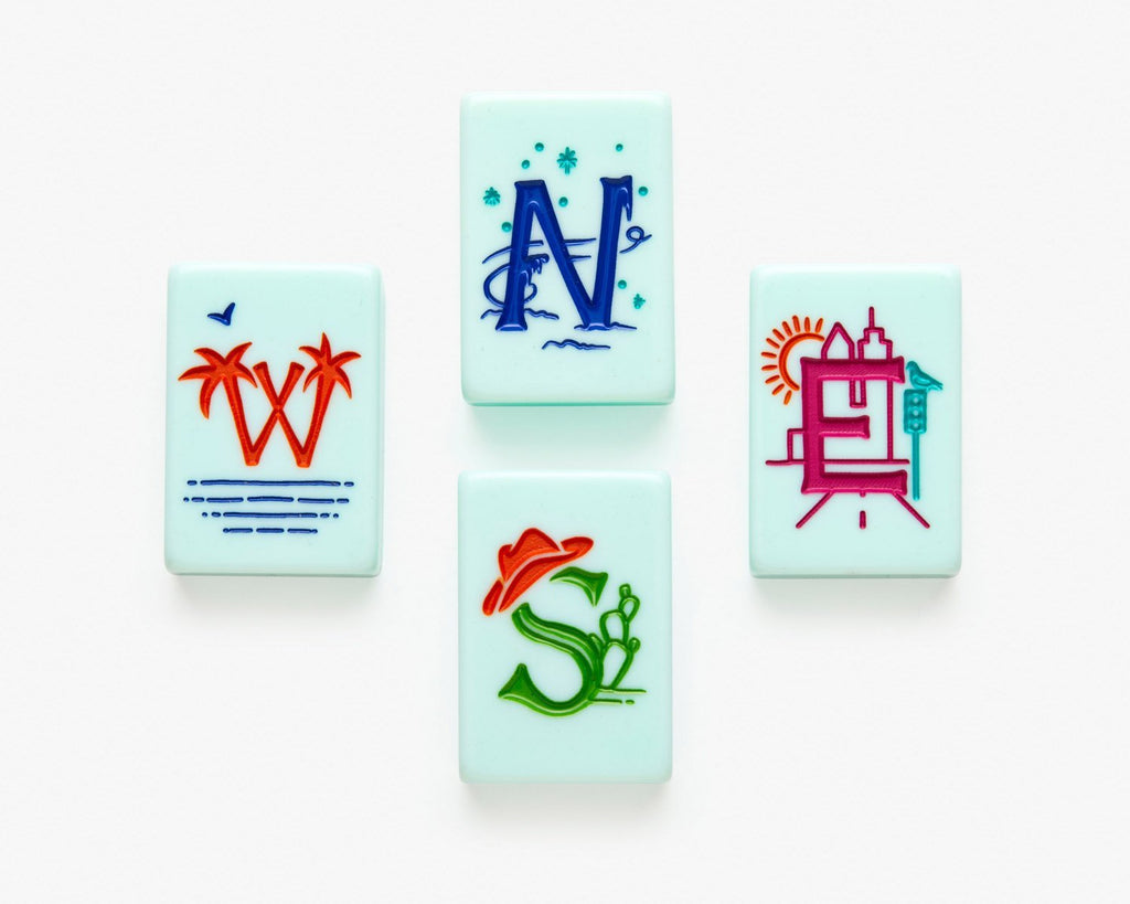 American Mahjong Tile set called the Cheeky featuring the winds
