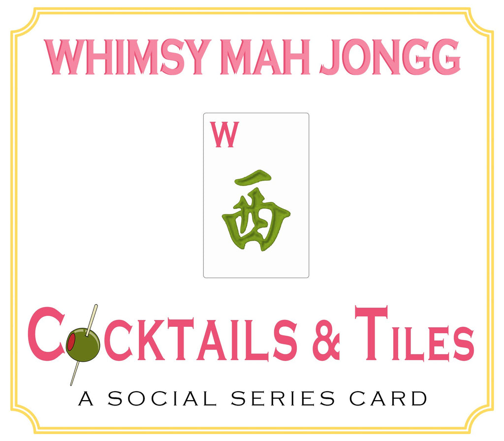 Whimsy Mahjong Cocktails & Tiles, a social series card