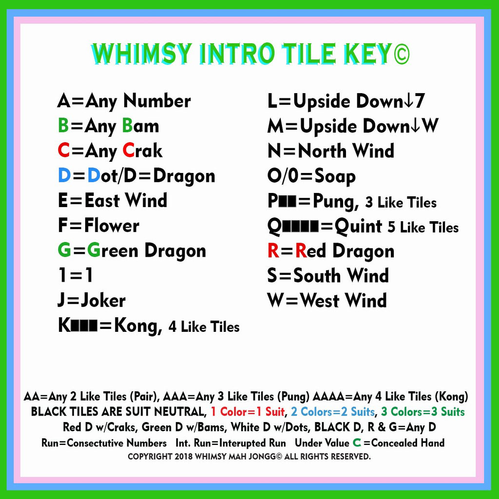 whimsy mahjong intro to tile key