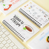 Cute Kawaii Cartoon Weekly Planner Coil Notebook Agenda Daily Memos Filofax Paper Book for Kids Gift Korean School Stationery