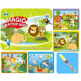 8 Styles Children Magic Water Drawing Book Coloring Doodle With Magic Pen Drawing Set Toys Early Education For Kids  Gifts