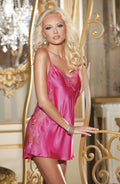 Shirley of Hollywood SOH Lace Chemise Pink Passion