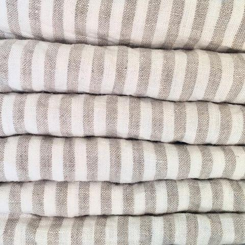7pm Linen Natural Stripe Wrap