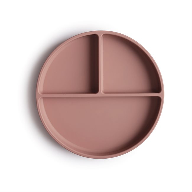 Mushie Silicone Plate Cloudy Mauve