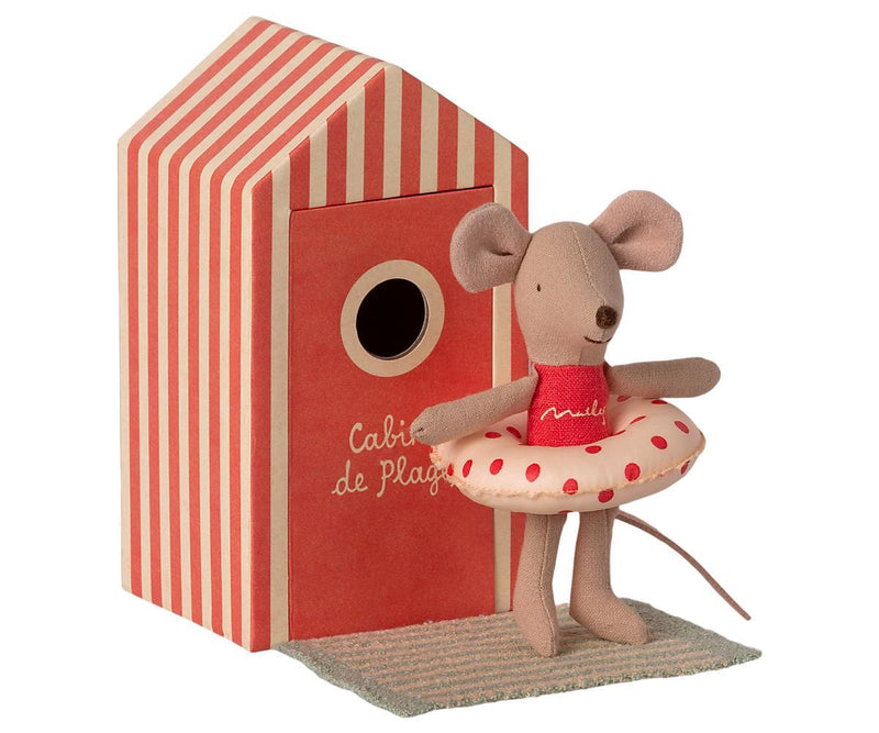 Maileg Beach Mouse Little Sister In Cabin - Coming Soon