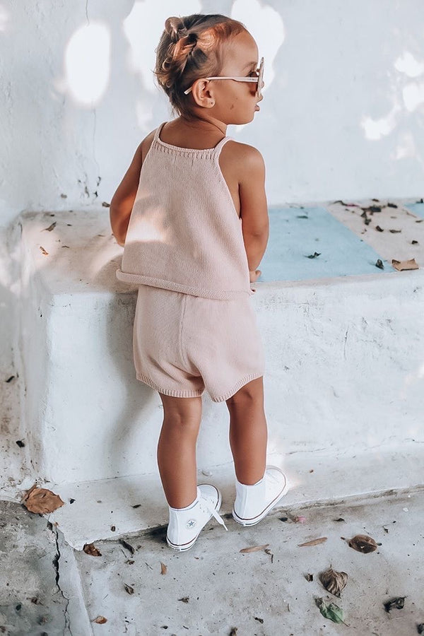 Elsie May Knit Shorts - Georgia Peach
