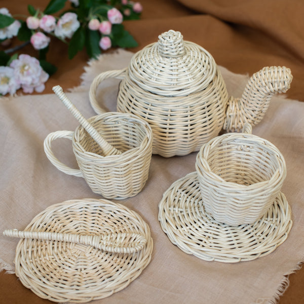 Juni Moon Rattan Tea Set