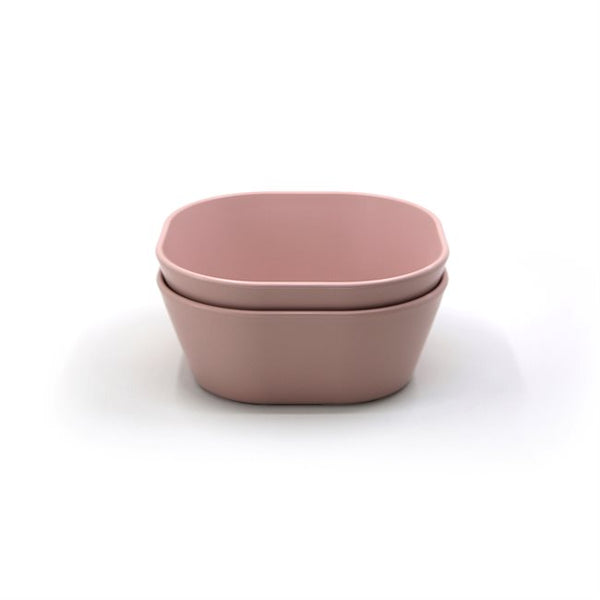 Mushie Dinner Bowl Square Blush (Set of 2)