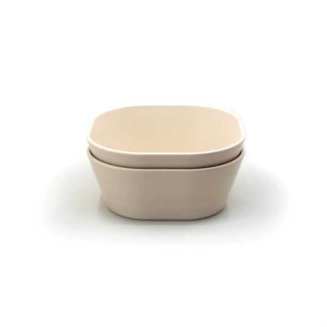Mushie Dinner Bowl Square Ivory (Set of 2)
