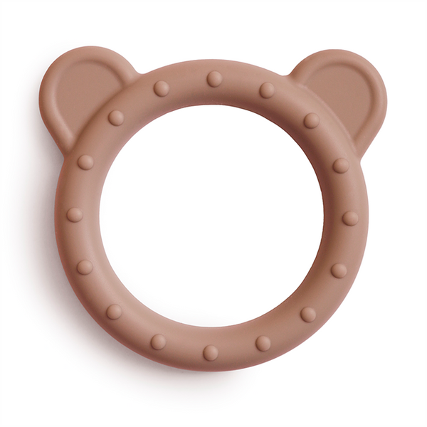Mushie Bear Teether Natural