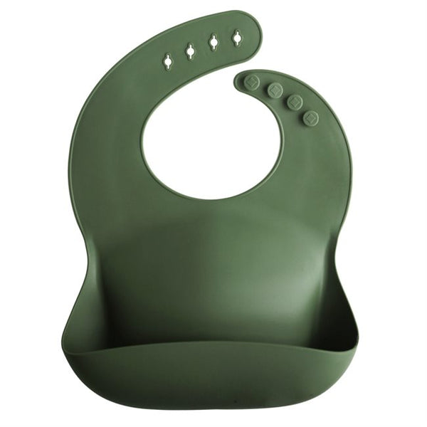 Mushie Bib Forest Green