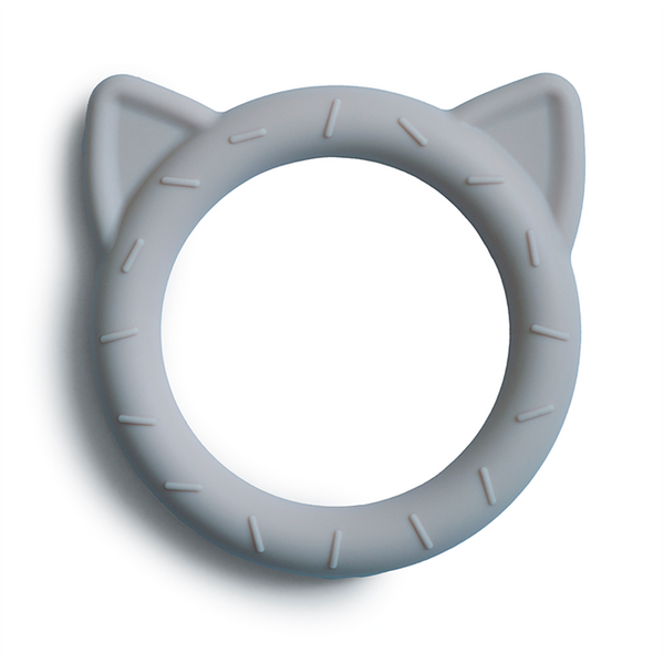 Mushie Cat Teether Stone